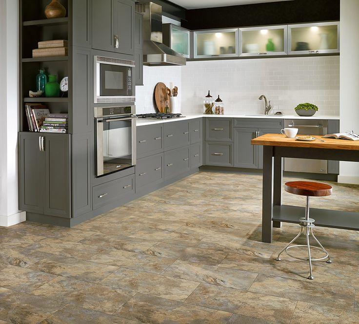 Armstrong Luxury Vinyl Tile Flooring Lvt Stone Tile Look Kitchen Ideas
