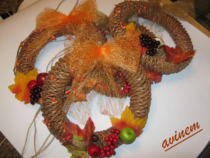 Podzimní věnečky 2014 - vlastní tvorba - avinem