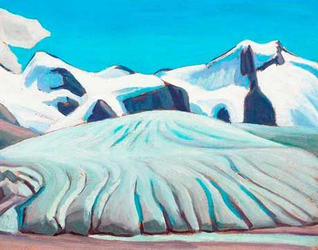 "Lawren Harris ""Arctic Sketch XXII"" -  one of about three dozen oil sketches Lawren Harris completed during his trip to the Arctic in 1930."
