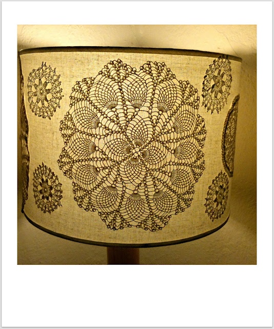 17 best images about crochet lamps shades lighting on for Doily light fixture