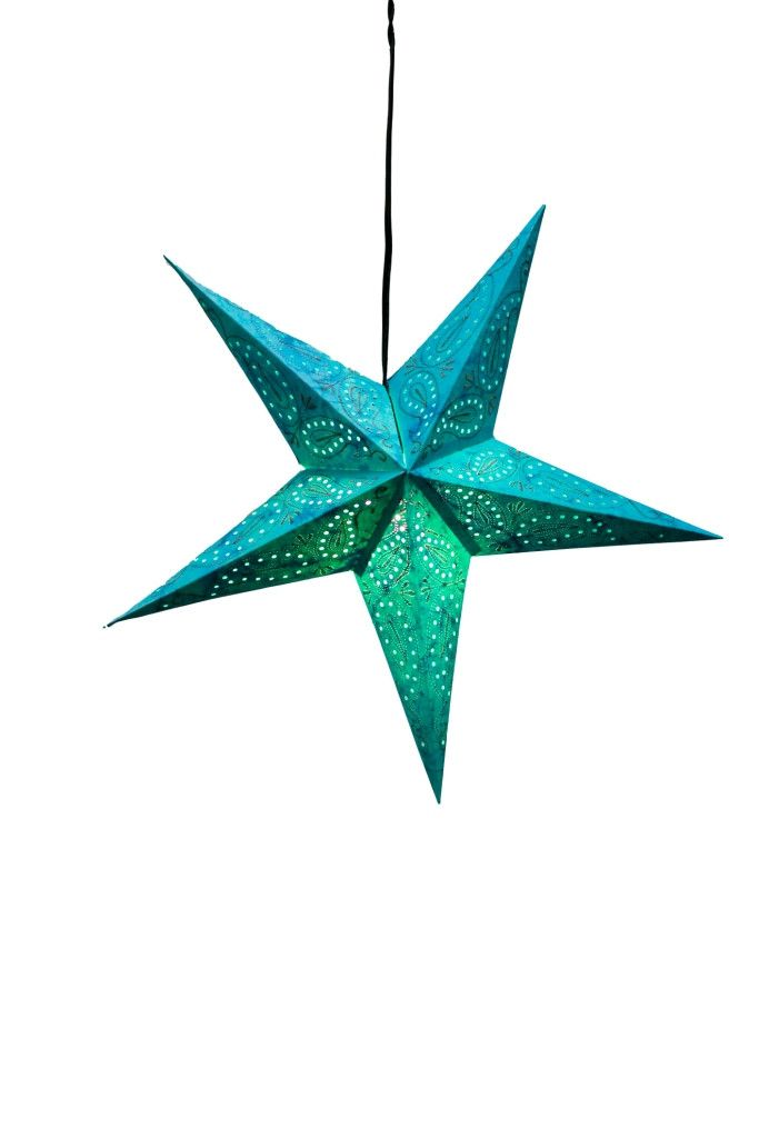 Our StarLights are handcrafted in India by partners of the Om Gallery. They are available in many dazzling patterns. Made with 100% recycled materials, these hanging lanterns create ambiance and a cle