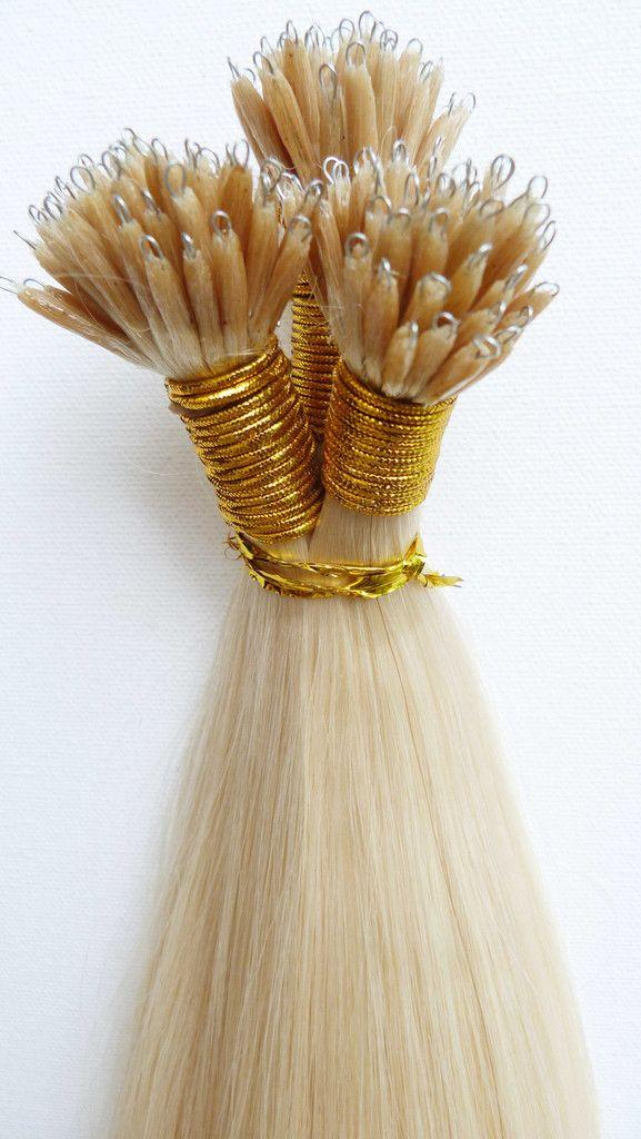 European Virgin Human Hair Extensions - Nano Ring Extensions