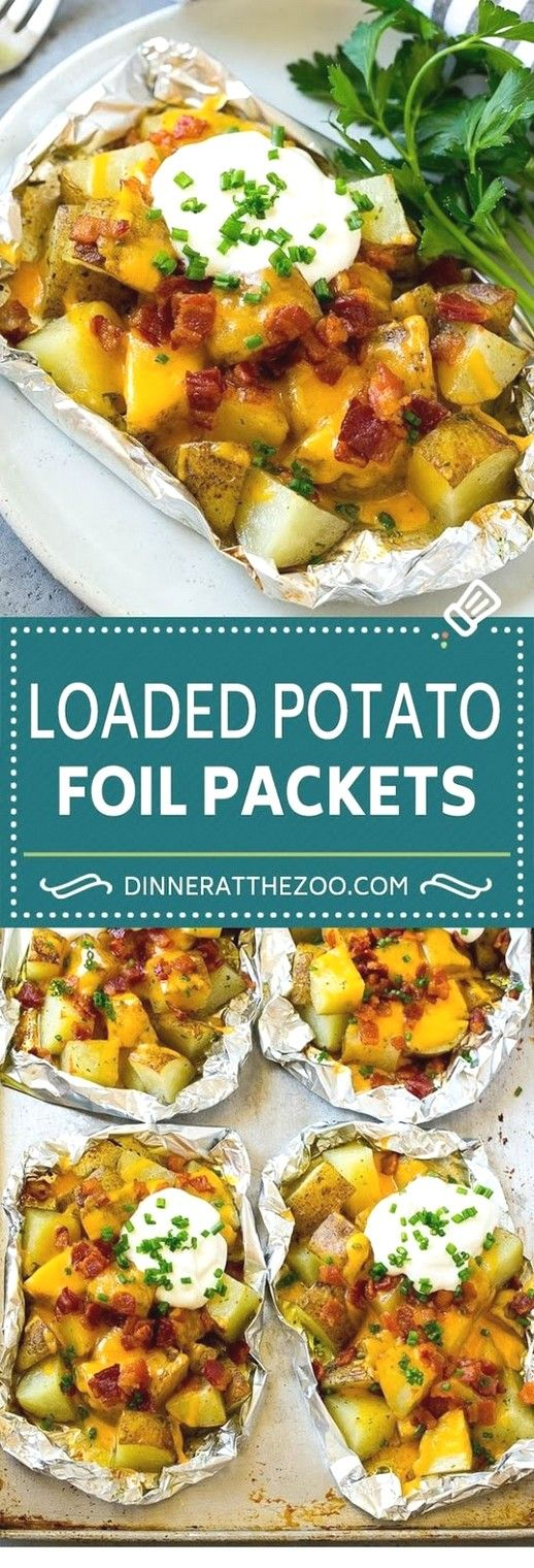Potatoes roasted with paper | Pack Foil Recipes   – Green is good, VEGGIES and HERBS