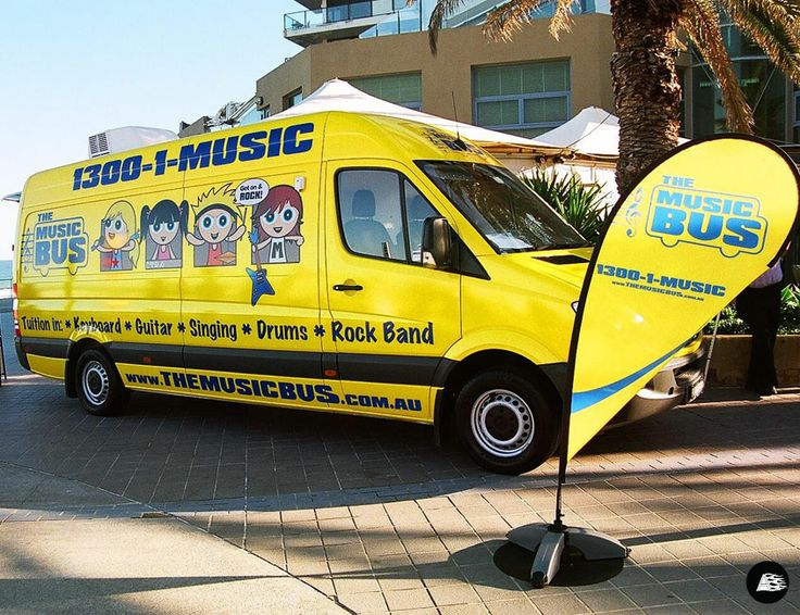 Mobile Music Tuition, Full Van Wrap, The Music Bus