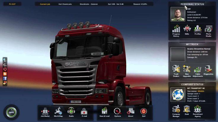 Euro Truck Simulator 2 Scania Streamline R370 Transporting Hot Chemicals...