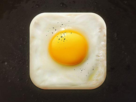 Fried Egg App Icon by CreativeDash