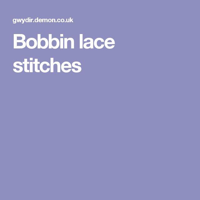 Bobbin lace stitches