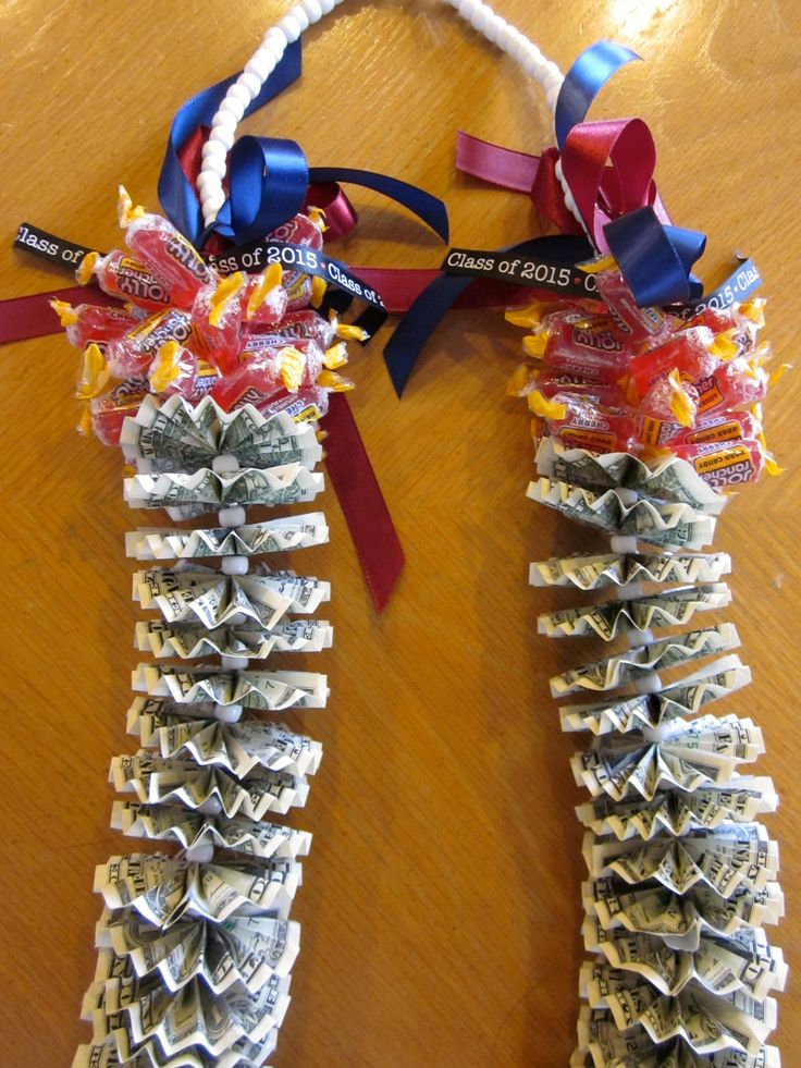 Candy Lei with money for Graduation
