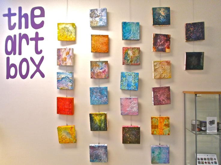 """2012-13 """"Plaster Painting"""" Workshop with Adele Woolsey."""