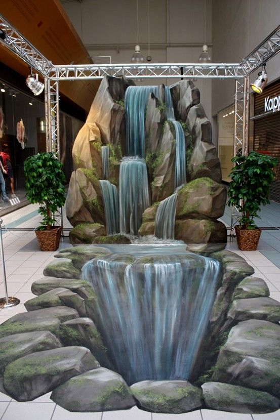 8. Waterfall  -Top 10 Greatest 3D Street Arts | #Information #Informative #Photo…