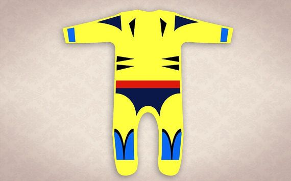 Baby Wolverine 90s style X-Men Onesie on Etsy, $35.15