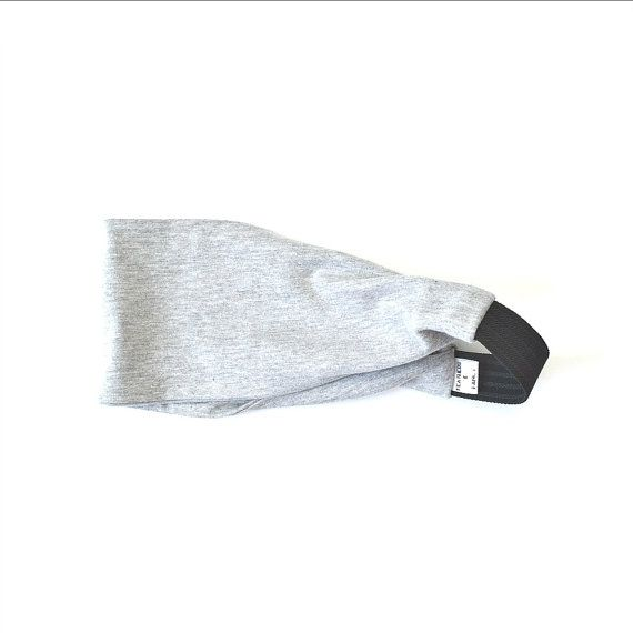 Women's Wide Running Headband Gray Workout by FeathersandFancy