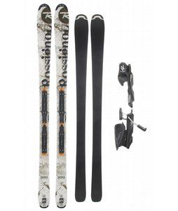 If you've been looking for skis to truly take you anywhere on the mountain, the Rossignol S80 Freeride Skis with Axium 120L Tpi2 Black Bindings for men are worth your while. Featuring normal camber underfoot and reverse camber toward the tips, these planks are designed to help you float on the powder while still allowing you to seriously carve up those groomers. The skis are designed with an 80mm waist, making the Axiom's 100mm brake a serious advantage for when you wreck. Lastly, the wide…