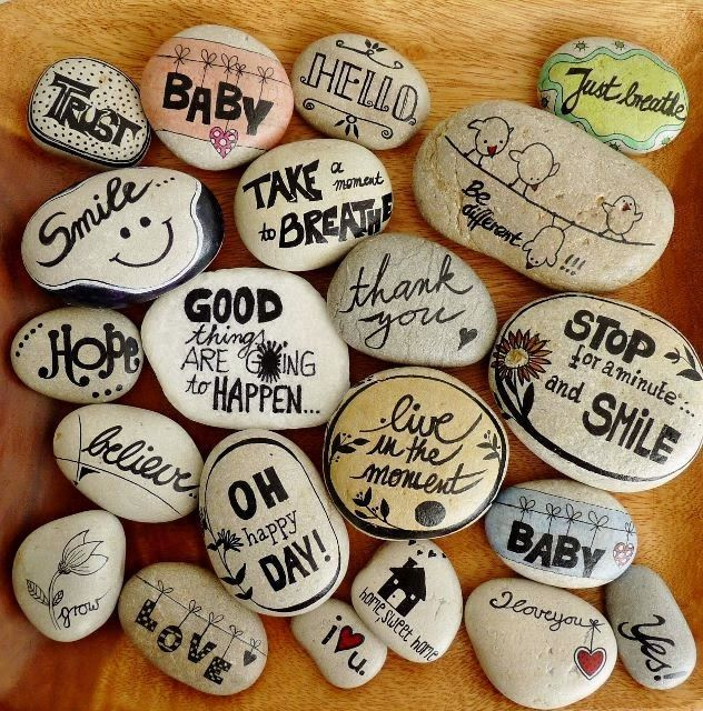 Rock Art - Decorate stones - * * Decoration and Invention
