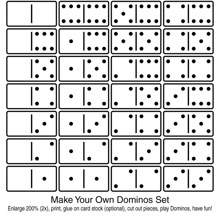 print your own dominoes