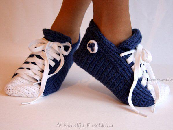 Anleitung für unisex Turnschuhe-Socken mit einfacher Häkeltechnik