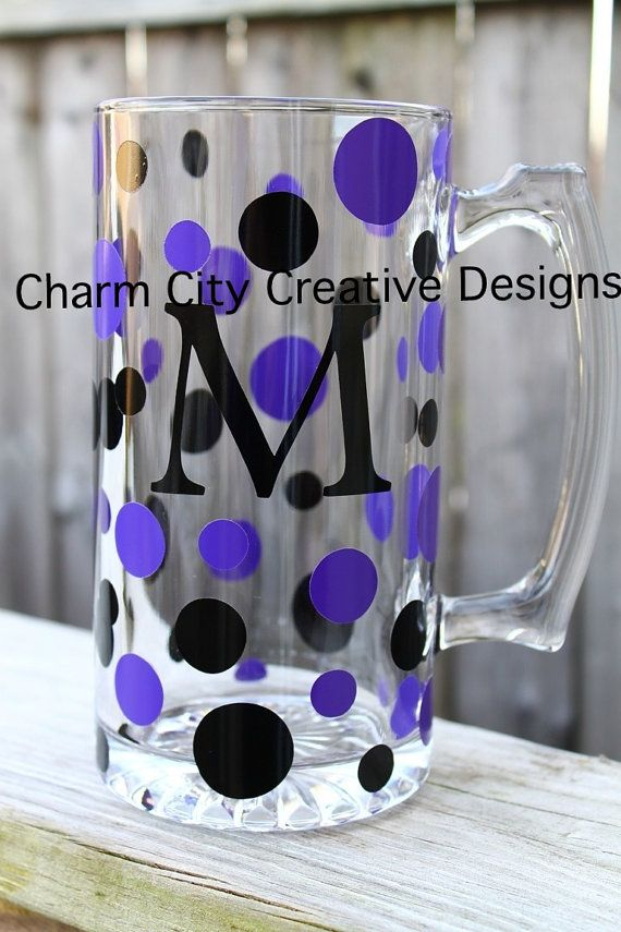 Personalized Beer Mug/Groomsmen Gifts/ NFL Team Themed /Baltimore Ravens and more/bridal party gifts/wedding/birthday on Etsy, $12.00
