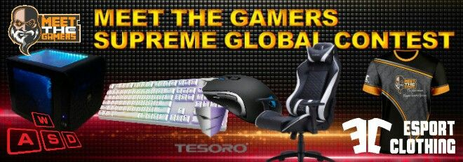 Just a few hours left until the end of Supreme Global Contest  Sign Up now: https://meetthegamers.com/pages/giveaway.