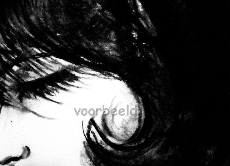 eye shut print op hout,poster,forex