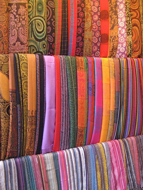 Indian fabrics--back and forth motion