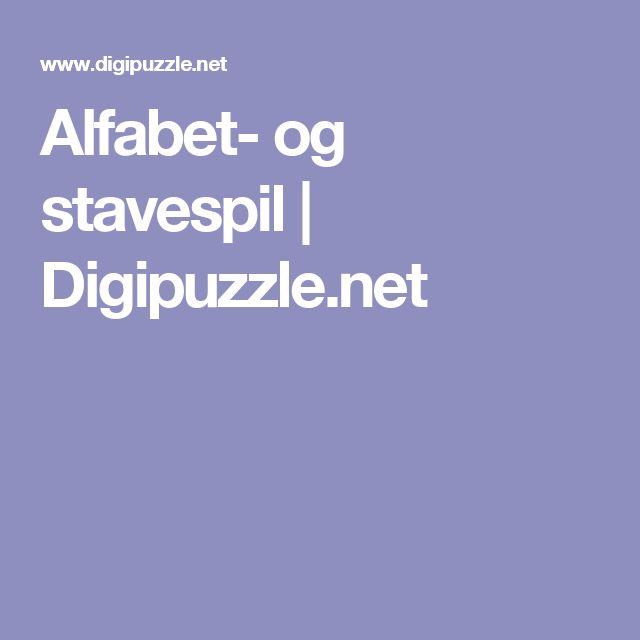 Alfabet- og stavespil | Digipuzzle.net