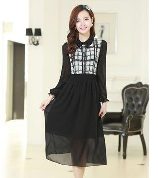 Long Dress DS3529 Black - Tamochi - Toko baju wanita murah dan grosir, fashion aksesoris korea dan