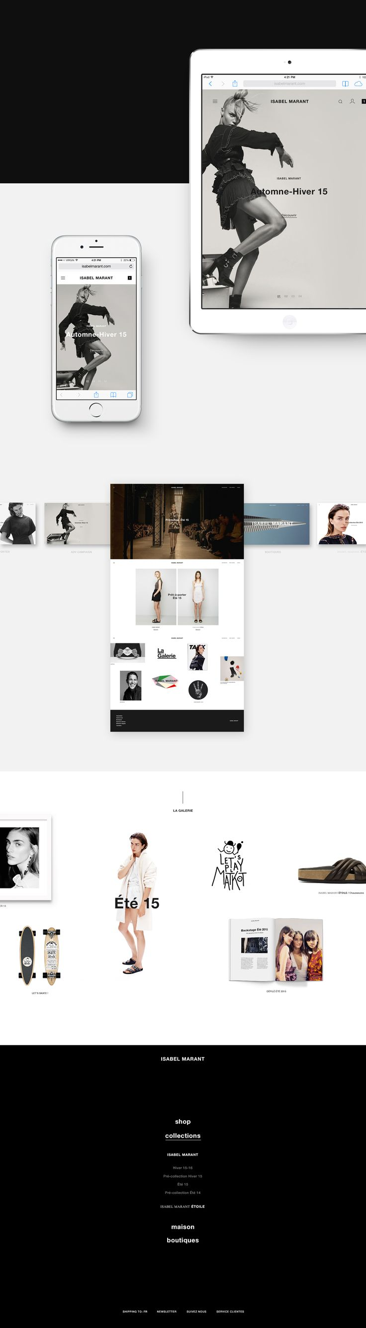 Isabelmarant.com - creative website proposal
