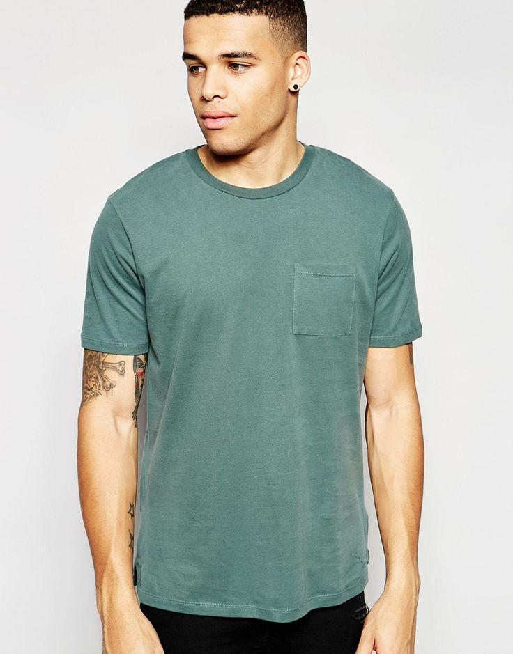 Imagen 1 de Camiseta holgada con tacto suave cepillado de ASOS