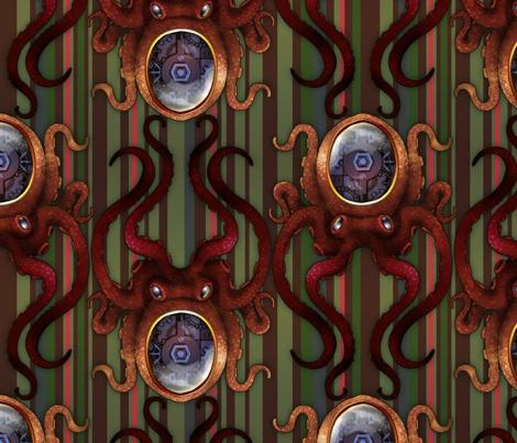 Clockwork Octopus 3 custom fabric by jadegordon - lots of fun patterns: squids, skulls & even bacon -what's not to love?