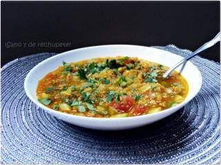 Sopa india de lentejas con verduras, Foto 2