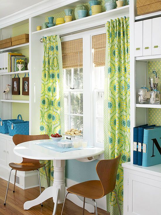 This stretch of wall serves multiple purposes, thanks to smart planning: http://www.bhg.com/rooms/dining-room/themes/small-space-dining-room-decorating-ideas/?socsrc=bhgpin052714framedin&page=8