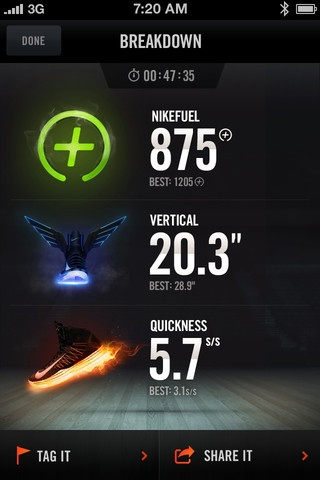 The Nike+ Basketball application is designed to work exclusively with Nike shoes containing the latest Nike+ Sport technology *