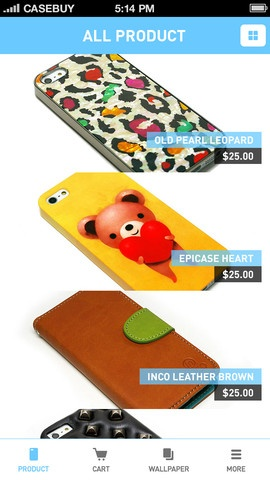 Enjoy your iPhone case shopping with CaseBuy!  CaseBuy is a shopping application, especially for cases for iPhone5, iPhone4, iPhone4S, iPad and iPad mini.