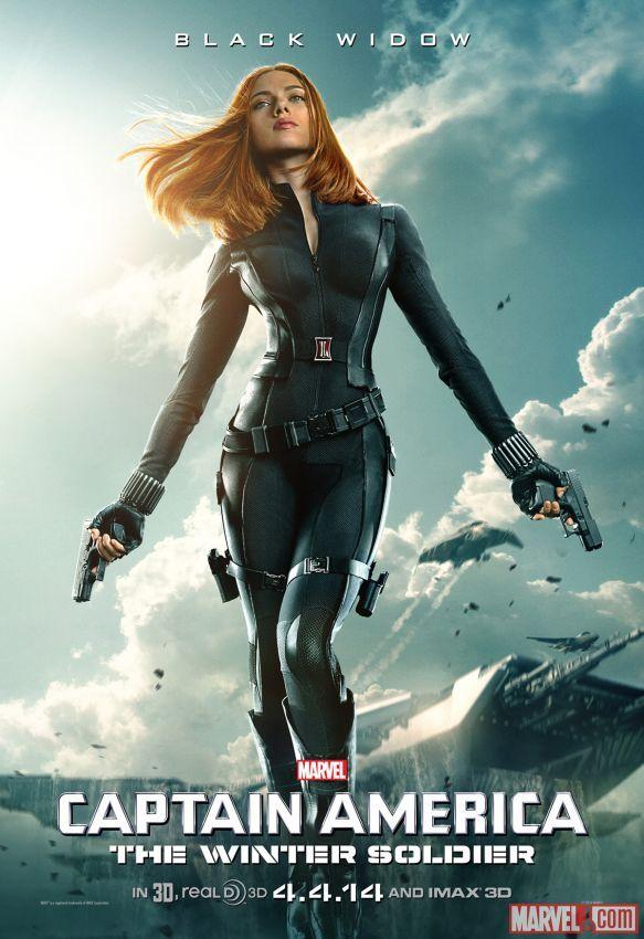 Captain America: The Winter Soldier BLACK WIDOW movie poster w/ Scarlett Johansson