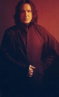 Severus Snape played by Alan Rickman | Before I had ever heard of the Harry Potter books, I saw a movie trailer for Harry Potter, and when I saw Rickman would be in the movie, I was instantly hooked!