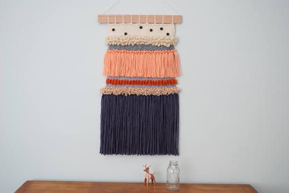 Contemporary Wall Weaving Loom Wall Hanging Tapestry