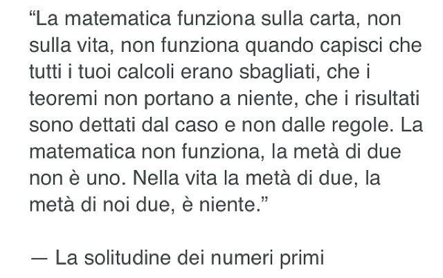 La solitudine dei numeri primi - Paolo Giordano