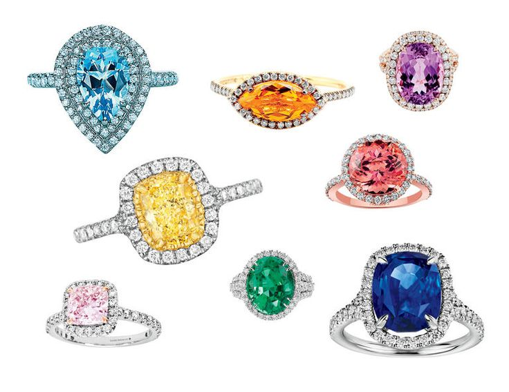 I definitely want an engagement ring with a colorful center stone