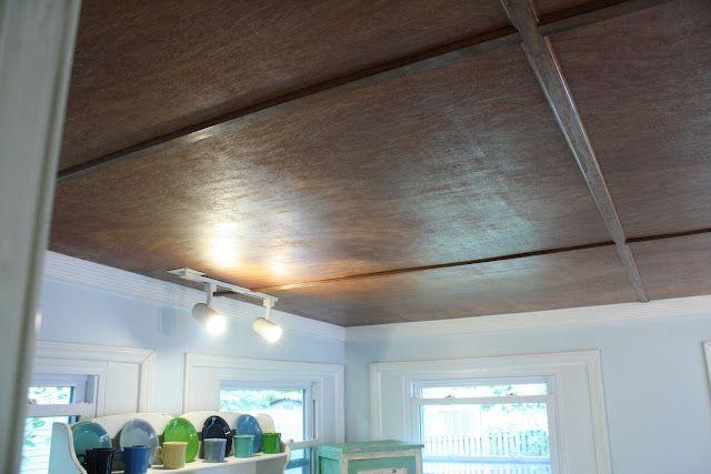 Luan Plywood Ceiling Basement Ceiling Ideas Pinterest