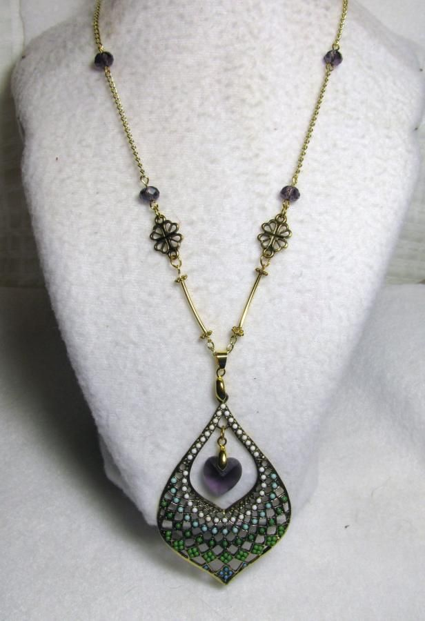Meet Miss Peacock - Jewelry creation by Linda Foust