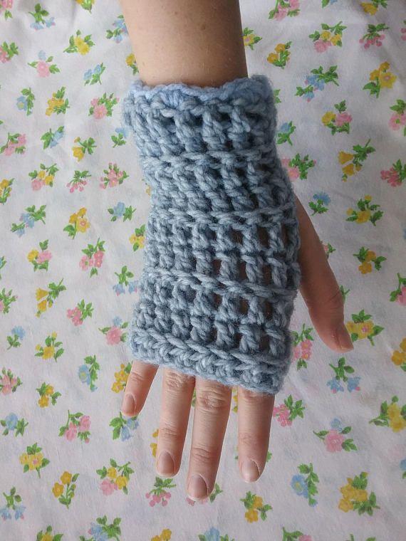 Girl's Texting Gloves Crochet Fingerless Gloves Winter