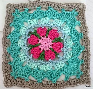 Crochet Mood Blanket 2014 - October Square by Pukado