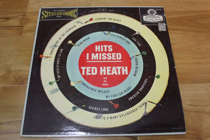 """RARE Ted Heath And His Music """"Hits I Missed"""" London Records 1958"""
