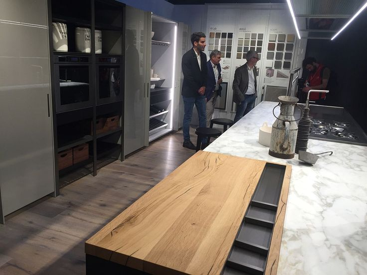 Kitchens Seen At Salone Del Mobile 2016 In Milan Island With Marble Worktop And Wood Interior Design