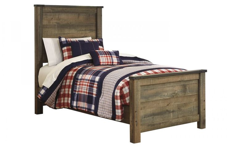 Trinell twin size bed twin size beds twin and beds for Beds 3 4 size