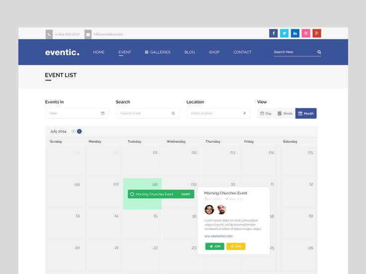 37 best 后台guanl images on Pinterest App ui, Colors and Design web - event calendar