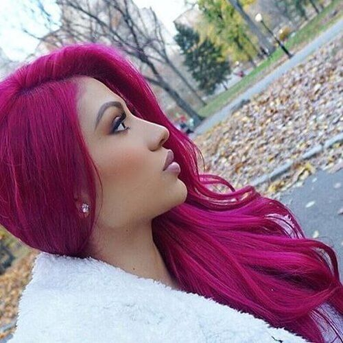 Magenta Hair Color With Olive Skin Hair Magenta Hair