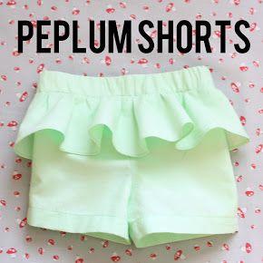 Zuzzy: Peplum Shorts Tutorial
