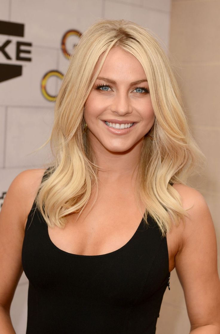 Julianne hough s short hair updo popsugar beauty - Julianne Hough Blonde Medium Wavy Hairstyle For Layers Love This Or Just Cut Couple Inches
