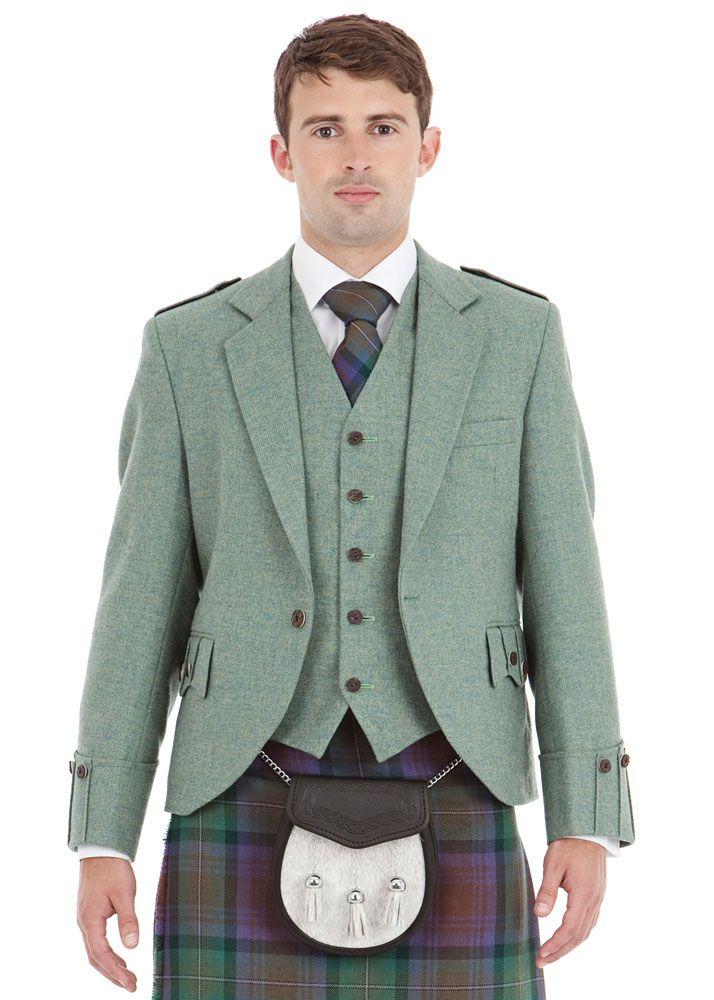 2017 Wedding Trend - Greenery - Argyll Kilt Outfit - Tweed Jacket